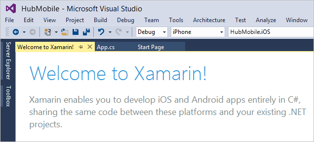 Use Visual Studio Build Xamarin apps in Visual Studio